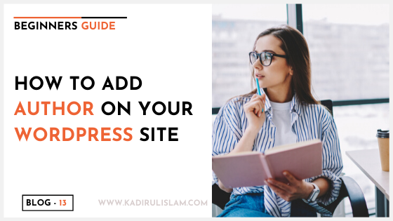 How to add author on your wordpress website -2020